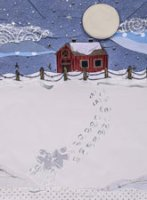 Snow Angels charity Christmas card supporting Starlight Children's Foundation