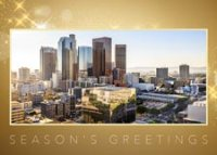 Los Angeles Gold Holiday Card