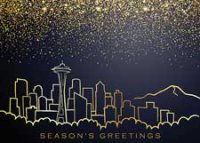 Seattle Holiday Charm Holiday Card