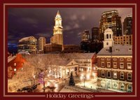 Holiday Time in Boston Holiday Card