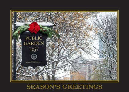 Boston Public Garden Holiday Card
