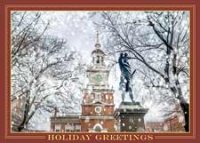 Independence Hall Snowfall Holiday Card