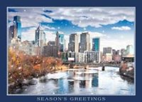 Philadelphia River Skyline Holiday Card