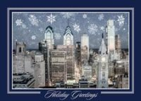 Philadelphia Center City Evening Holiday Card