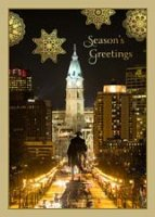 Washington Faces City Hall  Philadelphia Holiday Card