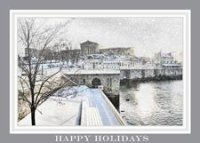 Snow By The Water Philadelphia Holiday Card