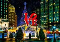 Love Park Christmas Village Holiday Cad