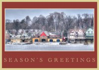 Philadelphia's Boathouse Row Greetings Card