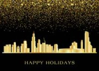 Chicago Glitter Holiday Card