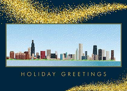 Chicago Panorama Holiday Card