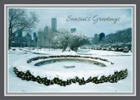 Snowfall on Chicago Holiday Card