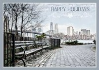 Manhattan Sunrise New York Holiday Card