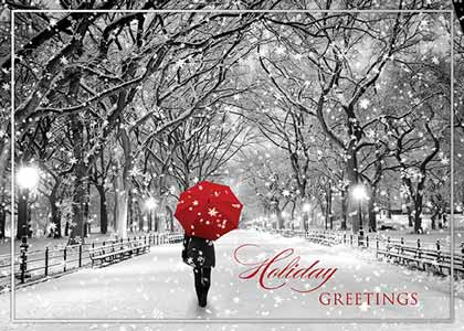 Walking in the Snow Holiday Card