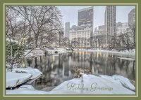 Central Park Winter Morning Holiday Card