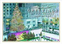 Festive In New York Rockerfeller Center Holiday Greeting Card