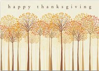Thankful Trees Thanksgiving Card