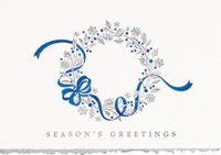 Dancing Ribbon Holiday Card