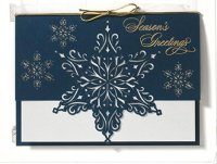 Star of Snow Laser Cut Holiday Card