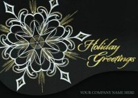 Midnight Luster business holiday card