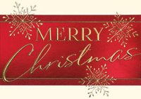 Red Banner Christmas Greeting Card