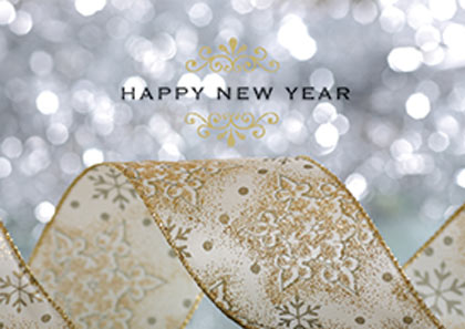 new year glitter new year card
