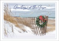 Seashore Greetings Beach Holiday Card