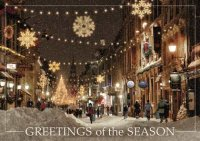 Boston Stroll on State Street Holiday Card