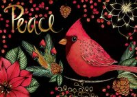 Peace Cardinal Charity Holiday Card