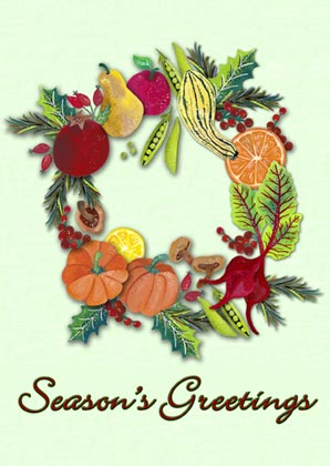 Wreath of Plenty Charity Holiday Card