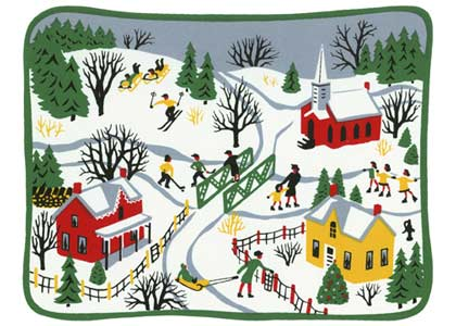 Folk Art Village Charity Holiday Card