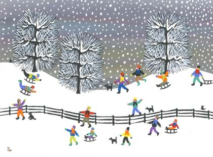 Joyful Winter Charity Holiday Card