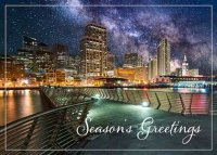 Pier 14 San Francisco Skyline Christmas Holiday Card
