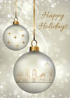 Boston Ornaments Holiday Greetings Card