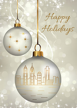 Philadelphia Ornaments Holiday Greetings Card