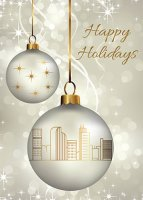 Denver Ornaments Holiday Greetings Card