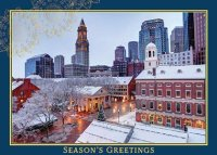 Winter Season in Boston Holiday Card