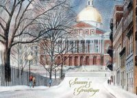 Boston Capitol Statehouse Holiday Card