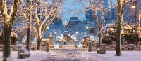 Boston Winter Season on Commonwealth Avenue Holiday Card