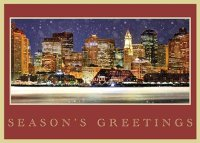 Boston Waterfront Holiday Card