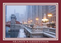 Chicago Wacker Drive Holiday Card
