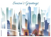 New York Skyline Holiday Card