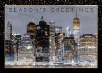 Manhattan Holiday Card featuring an infrared image of the New York skyline