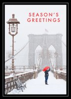 Brooklyn Bridge Winter Holiday Card