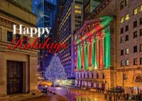 Wall Street Holidays Greeting Card