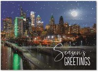 Philadelphia Moon Glow Holiday Card
