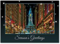 Philadelphia's Broad Street Evening Holiday Card