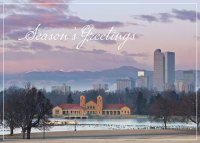 Denver City Park Sunrise Holiday Card