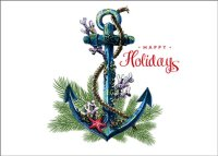 Anchor Greetings Nautical Holiday Card