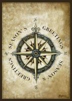 Compass Rose Nautical Holiday Card