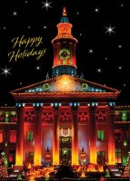 Denver Christmas Card of Denver City and County Building